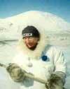 Михаил Бакин в костюме инуита