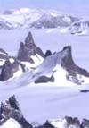 Панорама Антарктических гор.