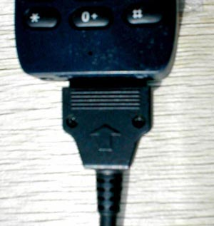 Соединение интерфейсного кабеля с телефоном.