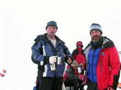 Участники экспедиции Сергей и Андрей