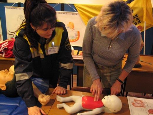 Проведение сердечно-лёгочной реанимации новорожденному.